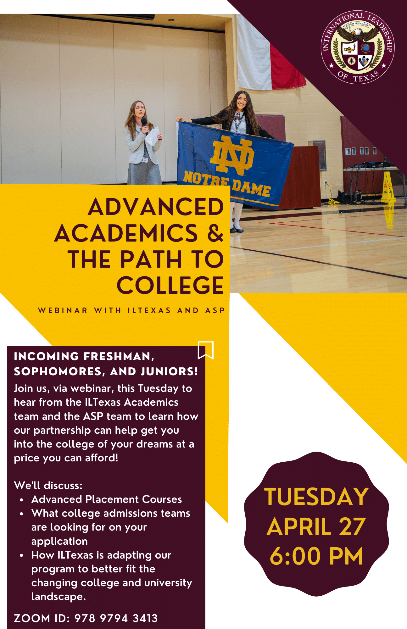 ASP & ILTexas - Advanced Academics and the Path to College